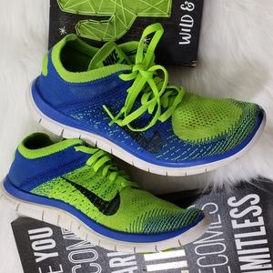 Lime Green Nike Free 4.0 Flyknits